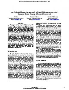 An Evidential Reasoning Approach to Fraud Risk Assessment under Dempster-Shafer Theory: A General Framework