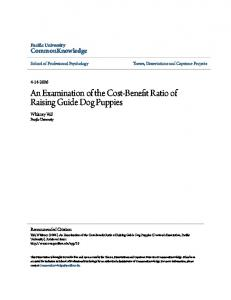 An Examination of the Cost-Benefit Ratio of Raising Guide Dog Puppies