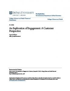 An Exploration of Engagement: A Customer Perspective