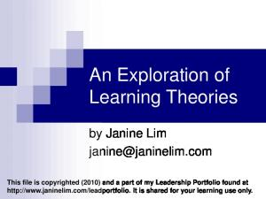 An Exploration of Learning Theories