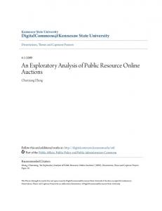 An Exploratory Analysis of Public Resource Online Auctions