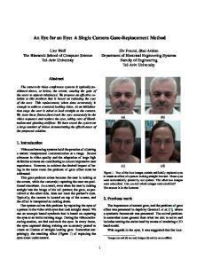 An Eye for an Eye: A Single Camera Gaze-Replacement Method