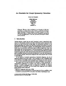 An Heuristic for Graph Symmetry Detection