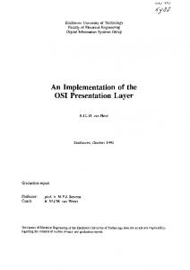 An Implementation of the OSI Presentation Layer