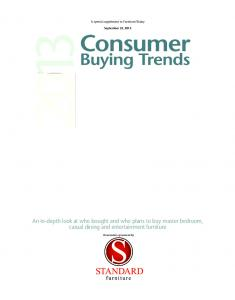 An in-depth look at who bought and who plans to buy master bedroom, casual dining and entertainment furniture. September 23, 2013