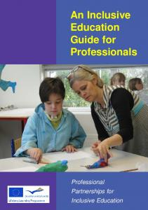 An Inclusive Education Guide for Professionals