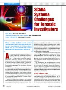 An industrial automation and control system is. SCADA Systems: Challenges for Forensic Investigators