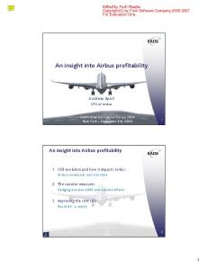 An insight into Airbus profitability