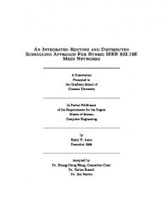 An Integrated Routing and Distributed Scheduling Approach For Hybrid IEEE E Mesh Networks