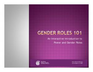 An Interactive Introduction to Power and Gender Roles. Nova Scotia Advisory Commission on AIDS
