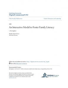 An Interactive Model to Foster Family Literacy