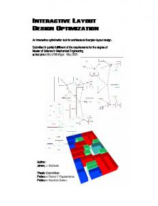 An interactive optimization tool for architectural floorplan layout design