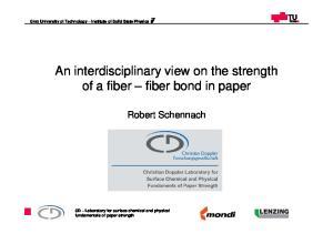 An interdisciplinary view on the strength of a fiber fiber bond in paper