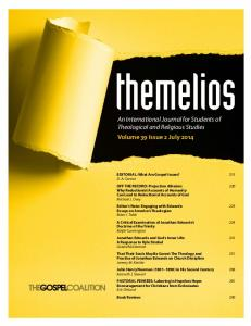 An International Journal for Students of Theological and Religious Studies Volume 39 Issue 2 July 2014