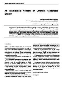 An International Network on Offshore Renewable Energy