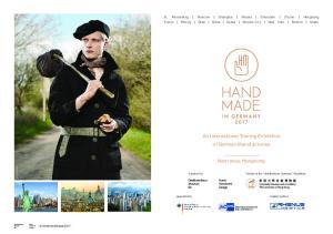An International Touring Exhibition of German Manufactories. Next stop: Hongkong