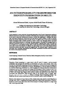 AN INTEROPERABILITY FRAMEWORK FOR IDENTITY FEDERATION IN MULTI- CLOUDS
