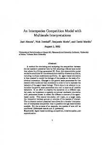 An Interspecies Competition Model with Multiscale Interpretations