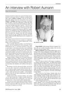 An interview with Robert Aumann