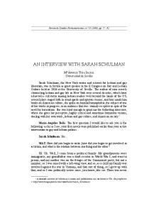AN INTERVIEW WITH SARAH SCHULMAN