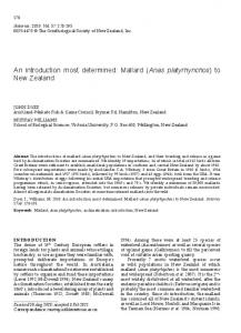 An introduction most determined: Mallard (Anas platyrhynchos) to New Zealand