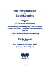 An Introduction to Bookkeeping