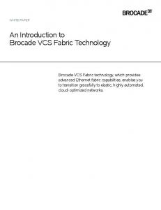 An Introduction to Brocade VCS Fabric Technology
