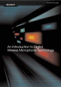 An Introduction to Digital Wireless Microphone Technology