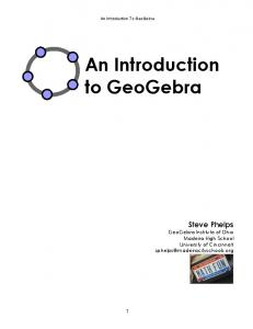 An Introduction to GeoGebra