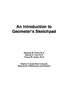 An Introduction to Geometer s Sketchpad