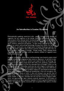 An Introduction to Iranian Mysticism