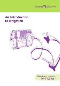 An Introduction to Irrigation