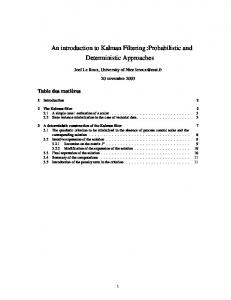 An introduction to Kalman Filtering :Probabilistic and Deterministic Approaches