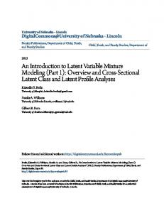 An Introduction to Latent Variable Mixture Modeling (Part 1): Overview and Cross-Sectional Latent Class and Latent Profile Analyses