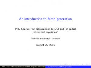 An introduction to Mesh generation