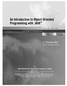 An Introduction to Object-Oriented Programming with JAVA TM