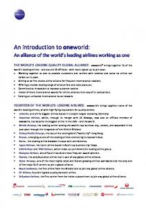 An introduction to oneworld: