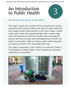 An Introduction to Public Health