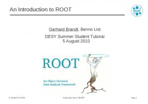 An Introduction to ROOT