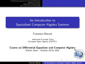 An Introduction to Specialised Computer Algebra Systems