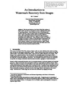 An Introduction to Watermark Recovery from Images