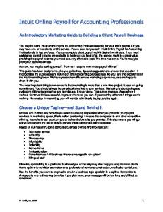 An Introductory Marketing Guide to Building a Client Payroll Business