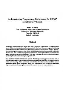 An Introductory Programming Environment for LEGO MindStorms Robots