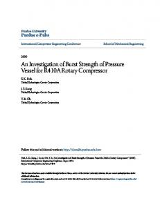 An Investigation of Burst Strength of Pressure Vessel for R410A Rotary Compressor