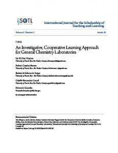An Investigative, Cooperative Learning Approach for General Chemistry Laboratories