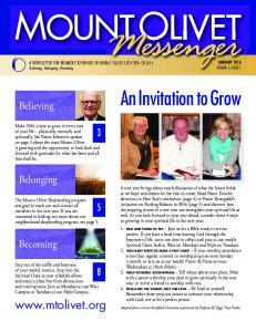 An Invitation to Grow