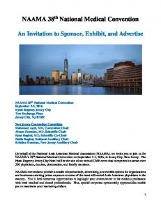An Invitation to Sponsor, Exhibit, and Advertise