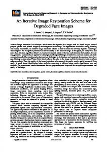 An Iterative Image Restoration Scheme for Degraded Face Images
