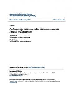 An Ontology Framework for Semantic Business Process Management