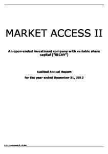 An open-ended investment company with variable share capital (